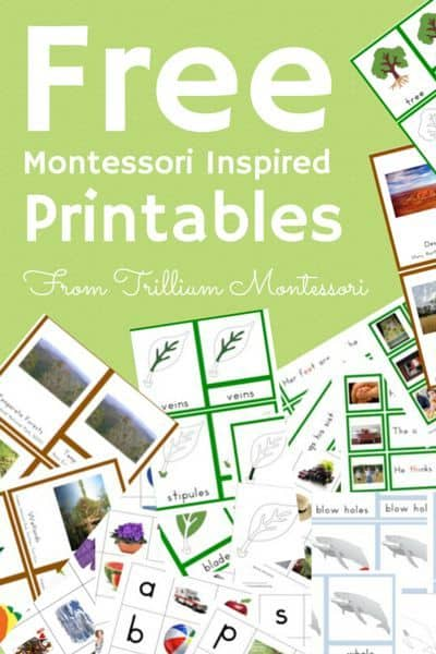 Free Montessori Inspired Printables Homeschool Giveaways