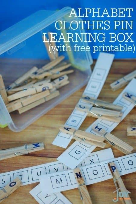 AlphabetClothesPinLearningBox