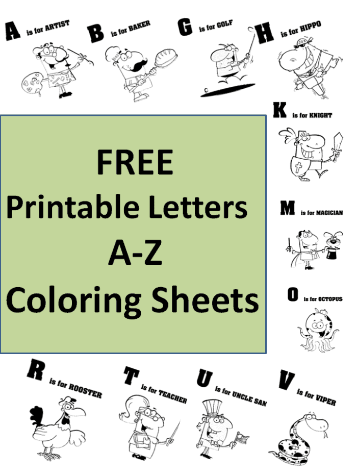 A To Z Coloring Pages Pdf : Free printable a z coloring sheets