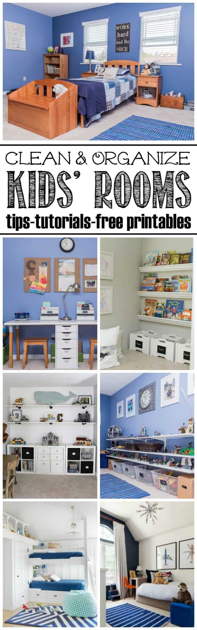 Clean Organize Kids Rooms Tips Tutorial Free