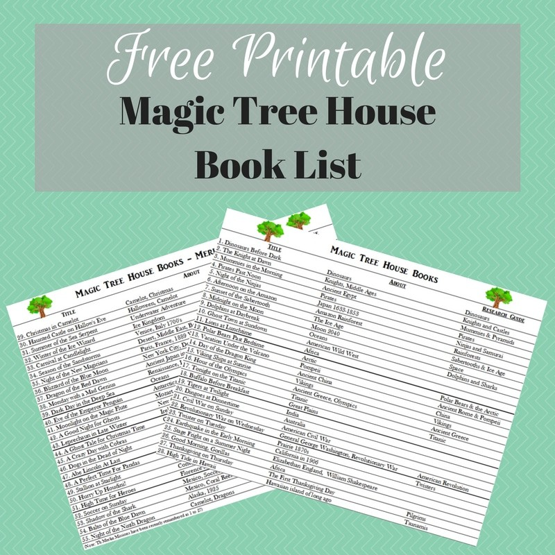 picture regarding Who Was Book Series Printable List called Magic Tree Place E-book Checklist - Totally free Printable - Homeschool