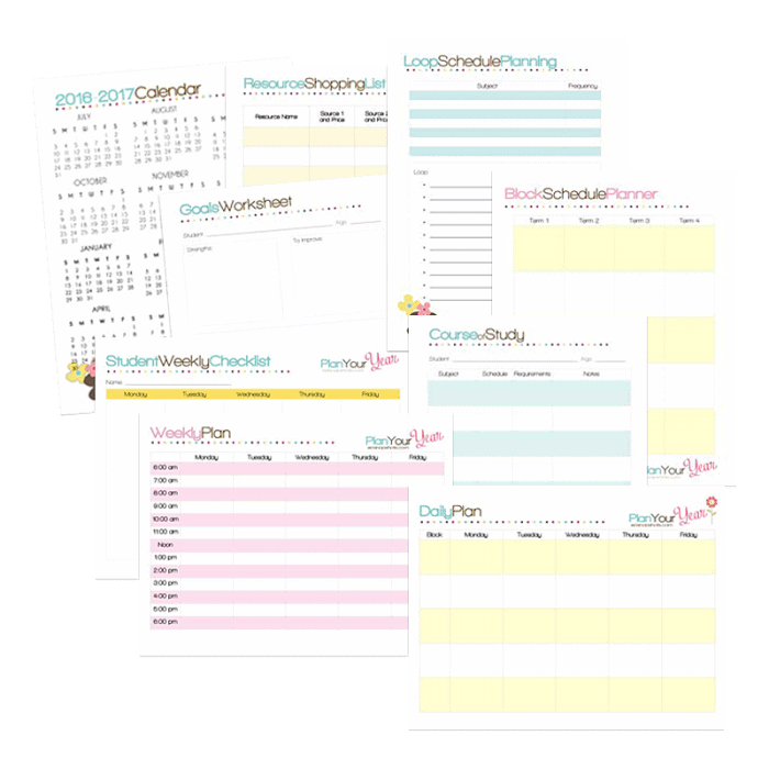 image about Loop Schedule Printable known as Totally free Printable Homeschool Building Mini-Package - Homeschool