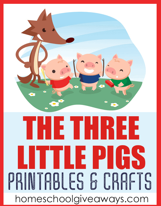 picture relating to Three Little Pigs Printable identified as The A few Minor Pigs Printables and Crafts - Homeschool