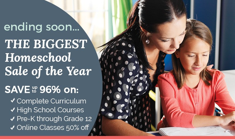 The BIGGEST Homeschool Sale of the Year - ends 5/30/17