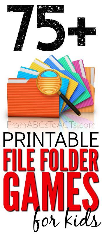 image regarding Free Printable File Folder Games identify 75+ Totally free Printable Report Folder Video games - Homeschool Giveaways