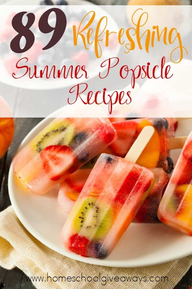 Who doesn't love a delicious, refreshing popsicle on a hot summer day? Check out these amazing recipes! :: www.homeschoolgiveaways.com