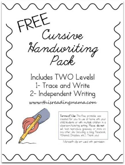 It is a picture of Genius Printable Cursive Practice