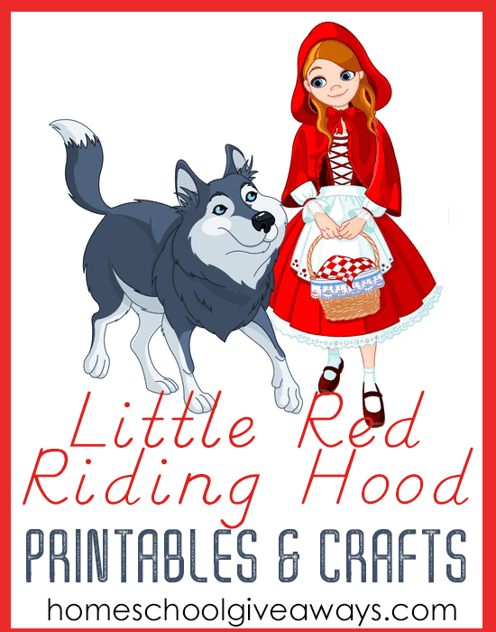 image regarding Little Red Riding Hood Story Printable known as Small Pink Driving Hood Printables and Crafts - Homeschool