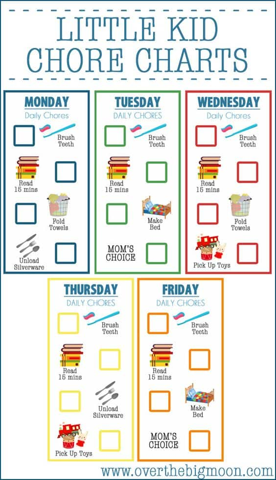 Nerdy image within free printable chore list
