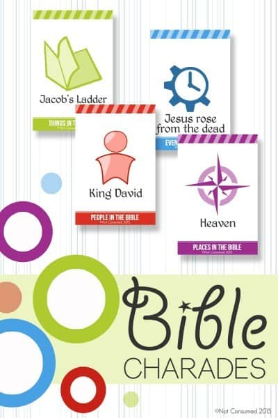 image regarding Charades for Kids Printable identified as Cost-free Bible Charades Printables - Homeschool Giveaways