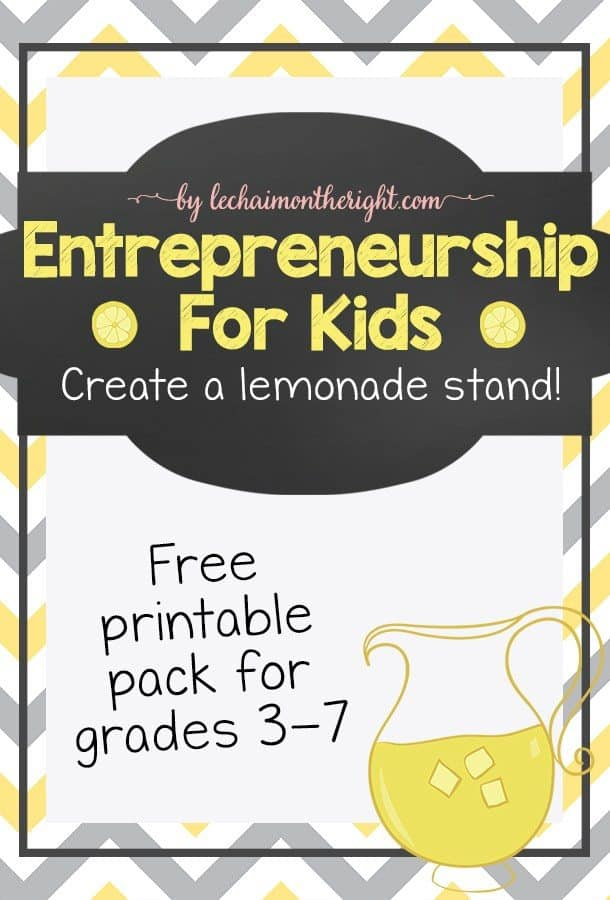 entreneurship for kids free printable pack grades 3