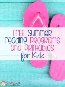FREE Summer Reading Programs and Printables