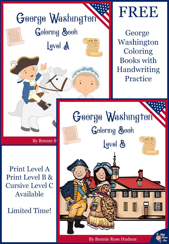 George Washington Coloring Books Limited Time Freebie
