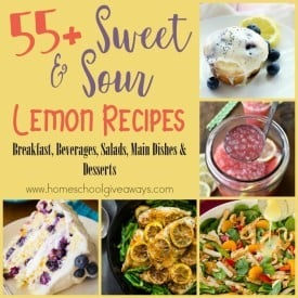 Lemons can add so much flavor without all the chemicals. From breakfast to salad dressings to desserts, give these delicious recipes a try. :: www.homeschoolgiveaways.com