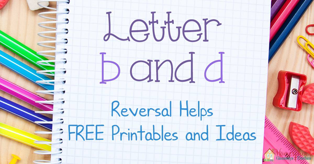 letter b and d reversal helps free printables and ideas homeschool giveaways. Black Bedroom Furniture Sets. Home Design Ideas