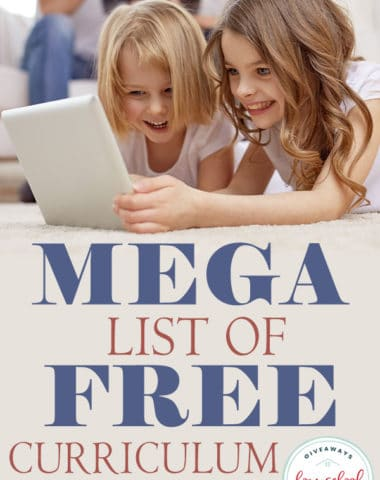 Whether you have a super tight budget or just want to save money, you can homeschool for FREE using these resources. Check out this MEGA list of online homeschool curriculum. #curriculum #hscurriculum #hsfreebies #hsgiveaways