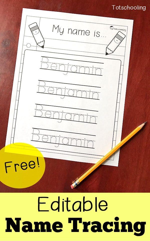 It is a picture of Astounding Trace Names Printable