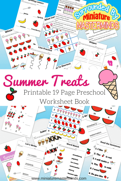 Summer-Treats-19-Page-Printable-Workbook-for-preschoolers.