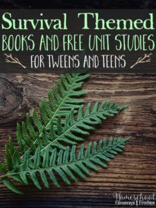 Survival Themed Books and FREE Unit Studies