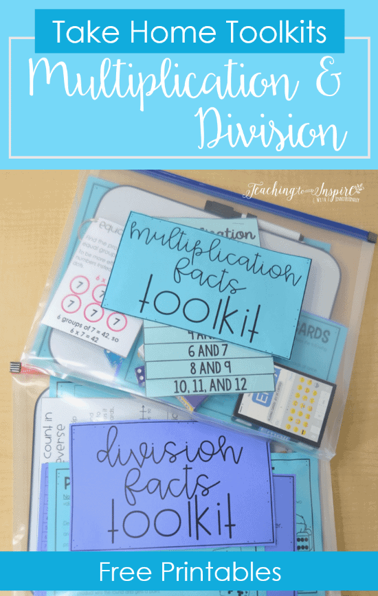FREE Multiplication and Division Tool Kit Printables
