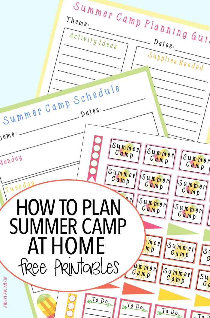 How to Plan Summer Camp at Home with FREE Printable ...