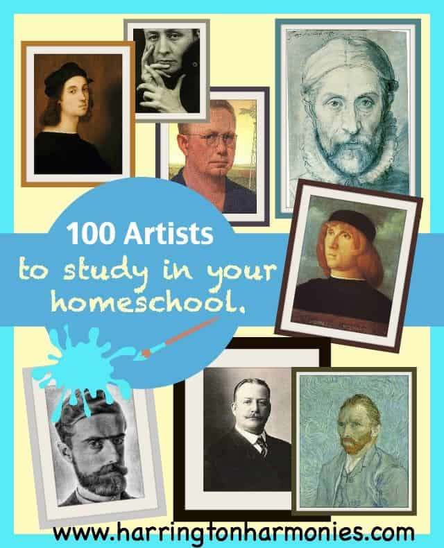 100-Artists-to-Study-in-your-homeschool