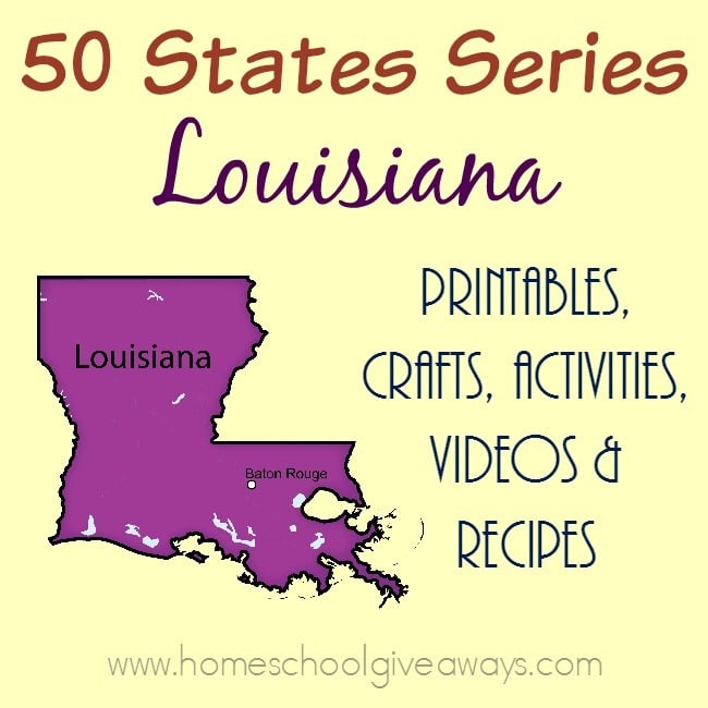 I have gathered everything you need to teach and learn about the great state of Louisiana. :: www.homeschoolgiveaways.com