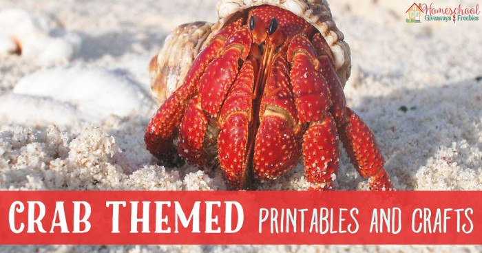 Crab Themed Printables and Crafts FB