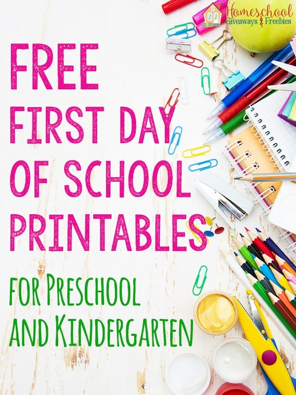 Free First Day Of School Printables For Preschool And Kindergarten