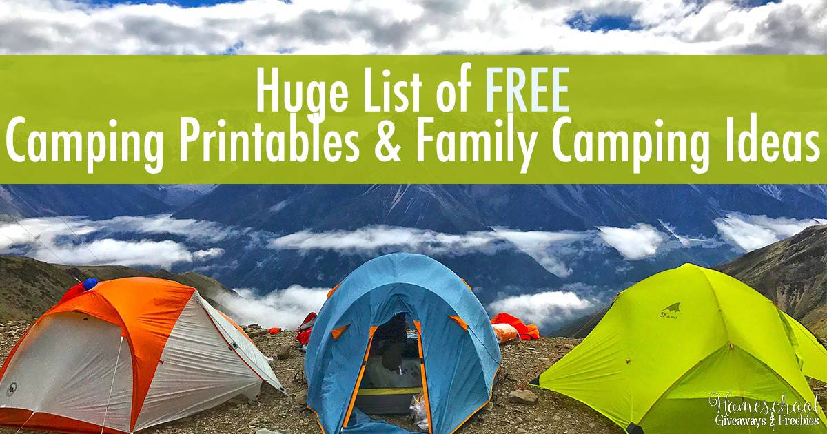 Huge List of FREE Camping Printables and Family Camping Ideas FB
