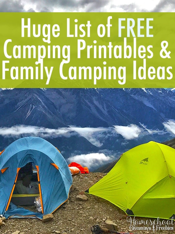 Huge List of FREE Camping Printables and Family Camping Ideas