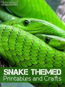Snake Themed Printables and Crafts