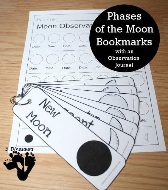 FREE Printable Phases of the Moon Bookmark and Journal ...