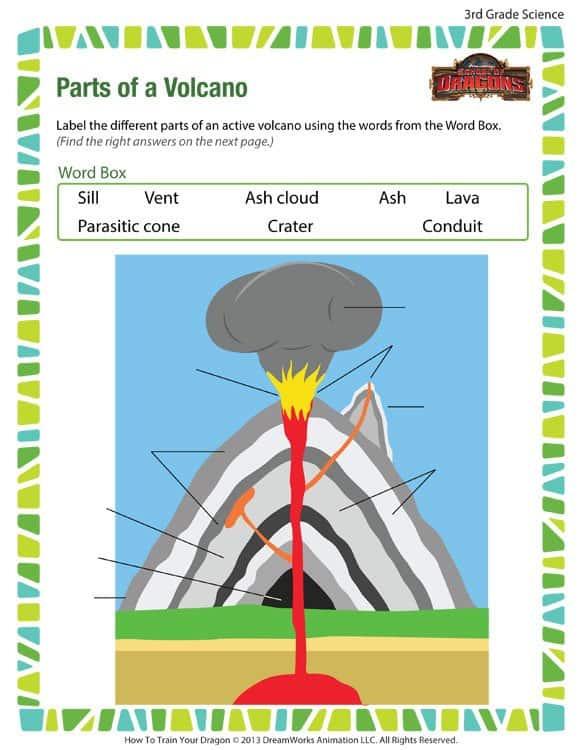 Free Printable Volcano Worksheet Homeschool Giveaways