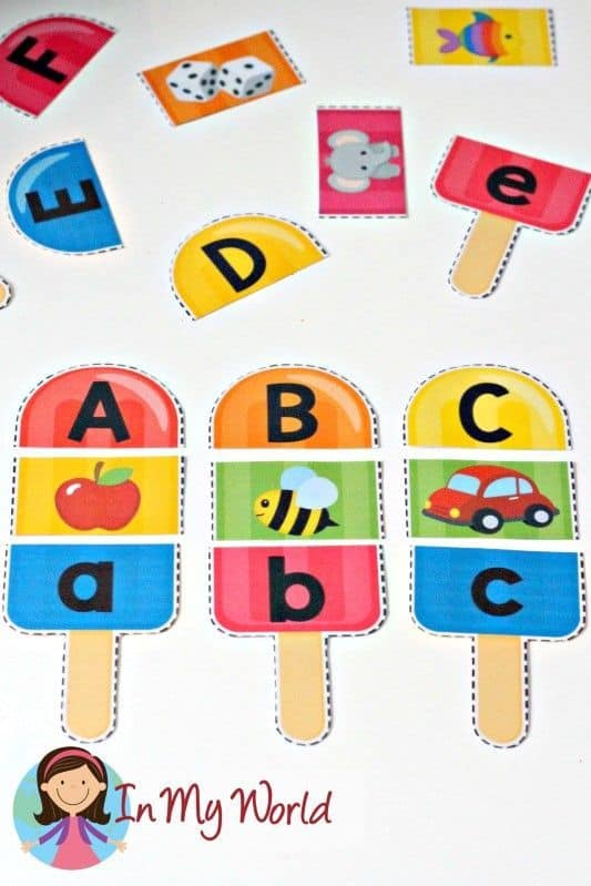 Free Printable Popsicle Alphabet And Beginner Sounds Pack