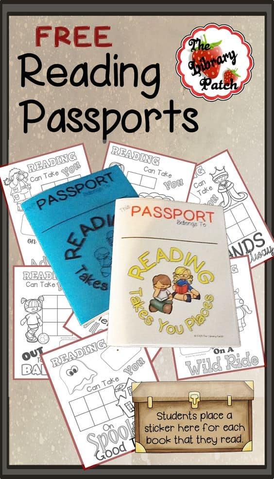 photo relating to Printable Passports called Absolutely free Printable Studying Pport - Homeschool Giveaways