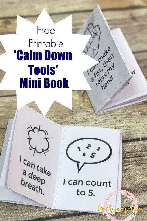 image about Free Printable Social Stories for Preschoolers named Free of charge Printable Tranquil Down Instruments Mini-E book - Homeschool Giveaways