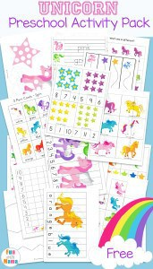 unicorn-preschool-learning-activity-pack