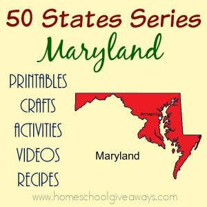 I have gathered everything you need to teach and learn about the great state of Maryland. :: www.homeschoolgiveaways.com
