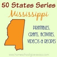 I have gathered everything you need to teach and learn about the great state of Mississippi. :: www.homeschoolgiveaways.com