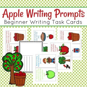 Apple Writing Cards Collage
