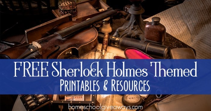 FREE Sherlock Holmes Themed Printables and Resources FB