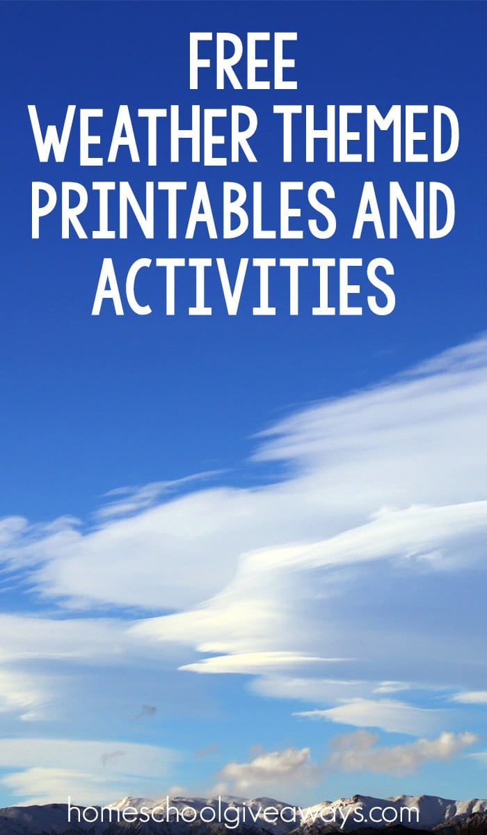 FREE Weather Themed Printables and Activities