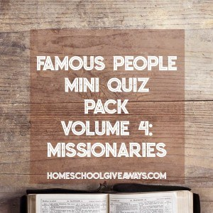 FREE Famous People Mini Quiz Pack Volume 4 – Missionaries