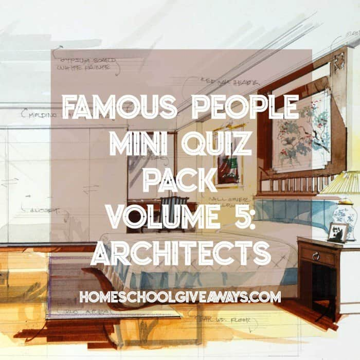 FREE Famous People Mini Quiz Pack Volume 5 – Architects