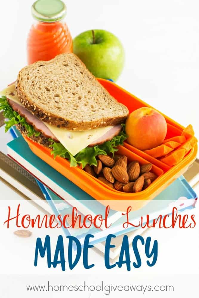 Homeschool lunches made easy for Easy lunch ideas for kids at home