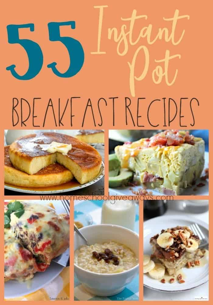 Breakfast can be both healthy and quick! Check out these Instant Pot Breakfast Recipes that are sure to start your day off right! :: www.homeschoolgiveaways.com