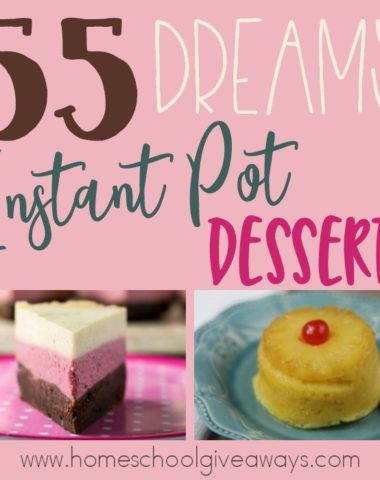 Looking for some delicious dessert ideas that won't have you in the kitchen all day? Try these dreamy Instant Pot recipes! :: www.homeschoolgiveaways.com