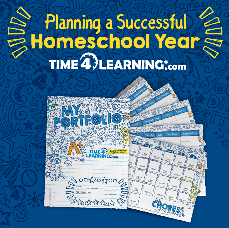 Tame the Homeschool Chaos with a Portfolio and Organization Packet