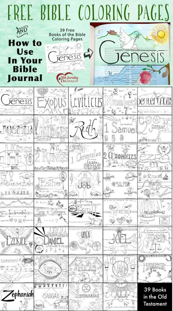 free bible journaling coloring pages 39 FREE Bible Coloring Pages and Bible Journal Idea   Homeschool  free bible journaling coloring pages